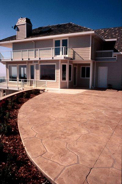 Flagstone, Tan Stamped Concrete Sullivan Concrete Textures Costa Mesa, CA