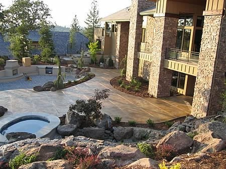 Gold, Adobe Stamped Concrete Narrows Construction Gig Harbor, WA