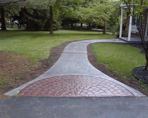 Gray, Brick Red, Cobblestone Stamped Concrete Concrete Styles Inc Schwenksville, PA