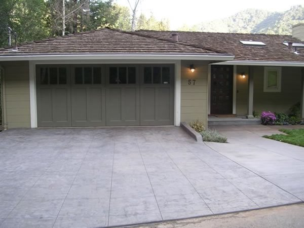 Gray, Stamped Stamped Concrete Frank Zip San Francisco, CA