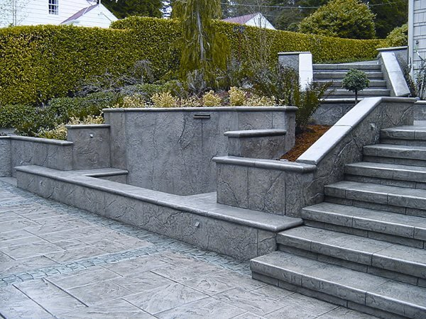 Grey, Title Stamped Concrete Brickform Rialto, CA