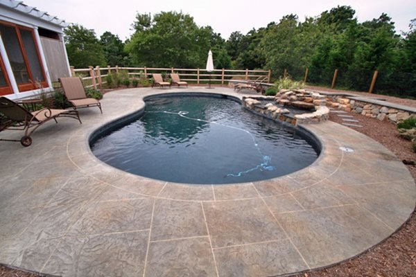 Kidney, Grey Stamped Concrete New England Hardscapes Inc Acton, MA