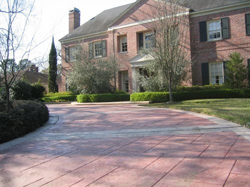 Stamped Concrete Patterned Concrete by Rick Davis Spring, TX