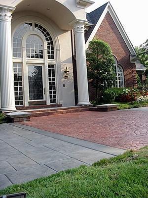 Square, Fan Stamped Concrete Artistic Hardscapes Mason, TN