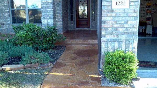 Stamped Concrete, Front Walkway Stamped Concrete All Innovative Concrete Austin, TX