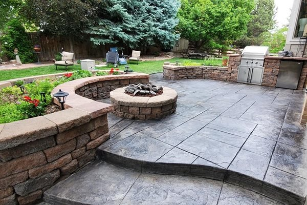 Stamped Concrete Patio, Outdoor Living Stamped Concrete Denver Concrete Inc Denver, CO