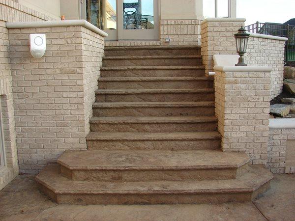 Stamped Concrete Steps, Concrete Stairs Stamped Concrete J&H Decorative Concrete LLC Uniontown, OH