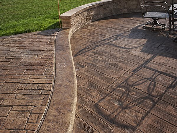 Stamped Patio, Stamped Wood Stamped Concrete A Cut Above Services Inc Walnut Creek, CA