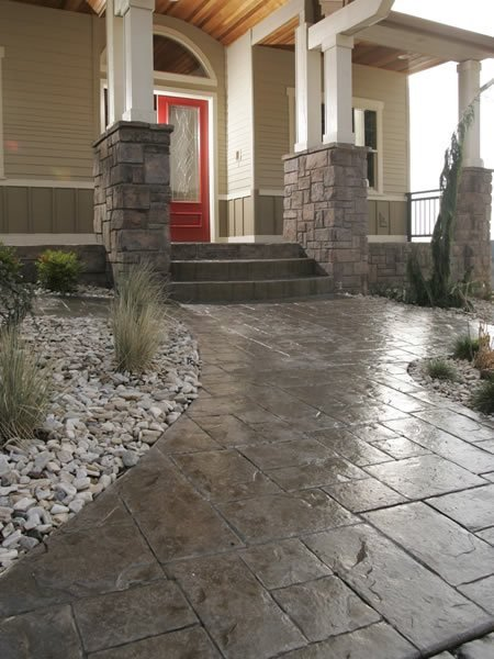 Stamped Steps Stamped Concrete The Wall Portland, OR