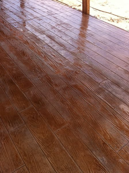 Wood Stamped Concrete, Wood Plank Pattern Stamped Concrete Capitol of Texas Concrete Austin, TX