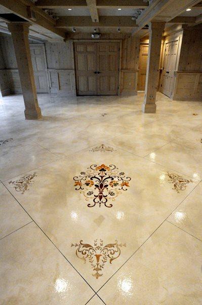 Stenciled Flooring Custom Concrete Solutions, LLC West Hartford, CT