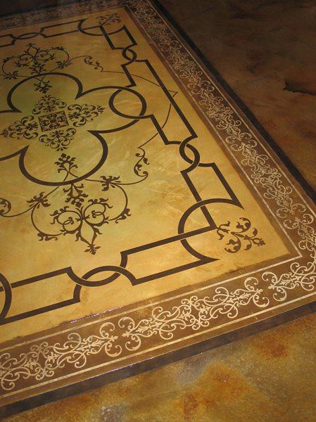 Rug, Stencil Stenciled Flooring Modello Designs Chula Vista, CA