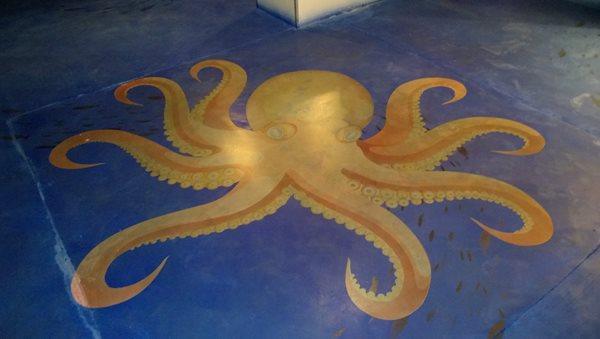Stenciled Sea Creatures Stenciled Flooring American Society of Concrete Contractors