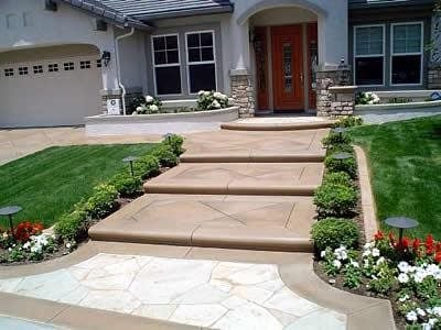 Brown, Stamped Steps and Stairs Concrete Art Carlsbad, CA