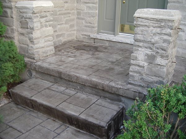 Charcoal, Stamped Steps and Stairs Elite Crete Corporation Valparaiso, Indiana