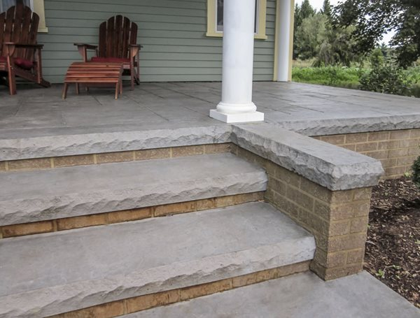 Concrete Steps, Textured Form Liner Steps and Stairs Butterfield Color® Aurora, IL