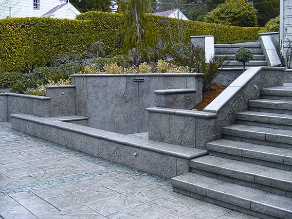Grey, Title Steps and Stairs Brickform Rialto, CA