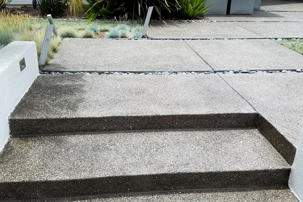 Modern Entryway, Exposed Aggregate Steps Steps and Stairs Concepts In Concrete Const. Inc. San Diego, CA