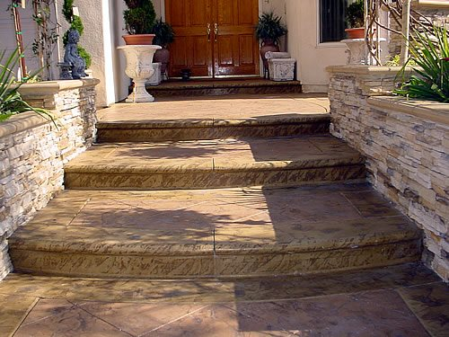 Stamped Stairs Steps and Stairs Artcon Decorative Concrete Hamilton, MT