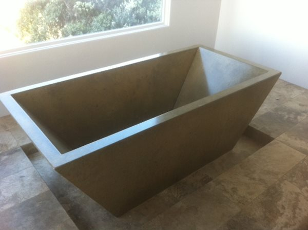 Bathtub, Concrete, Black Tubs and Showers DC Custom Concrete San Diego, CA
