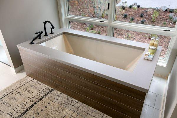 Concrete Bathtub Surround Tubs and Showers Hard Topix Jenison, MI
