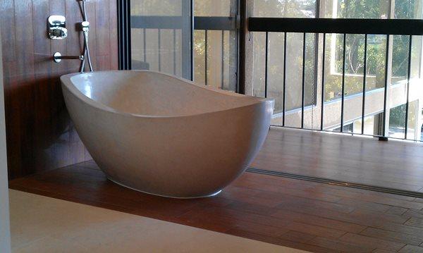 Concrete, Tub, Bathroom, White Tubs and Showers DC Custom Concrete San Diego, CA