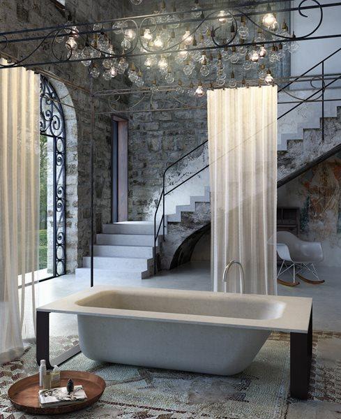 Concrete Tub, Concrete Bathtub Tubs and Showers THJ Solutions Epsom, Surrey