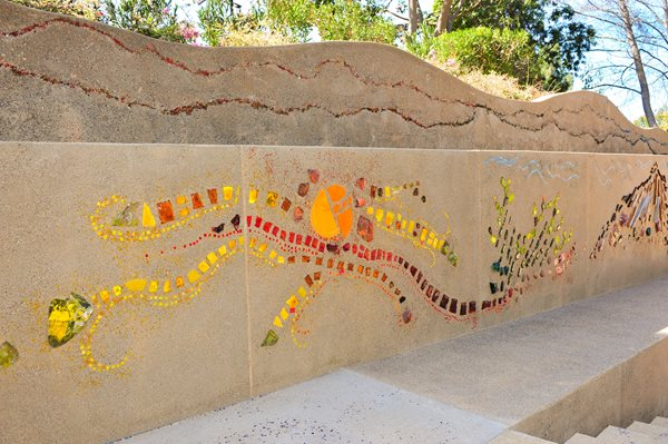 Mosaic Wall Vertical Stamping Concrete Contractors Interstate Poway, CA