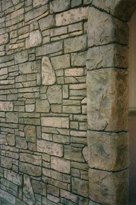 Rock, Wall Vertical Stamping Stone Edge Surfaces Mesa, AZ