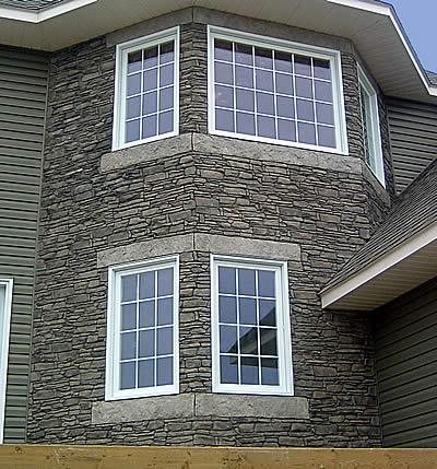 Stone Facing, House Vertical Stamping Stone Edge Surfaces Mesa, AZ
