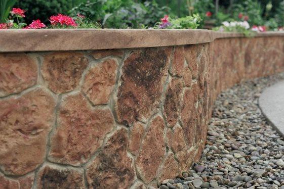 Stone, Wall Vertical Stamping Custom DesignCrete, Inc Crescent, PA