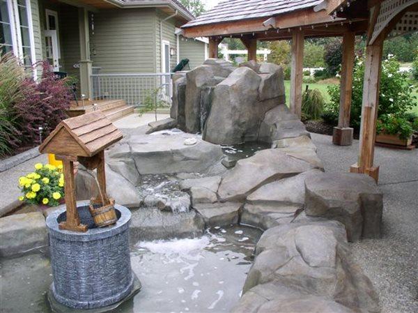 Backyard Pond Water Features Elements of Concrete Maple Ridge, BC