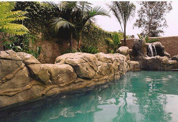 Concrete Rock, Concrete Rock Wall Water Features Authentic Environments Huntington Beach, CA