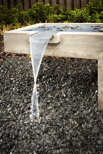 Contemporary Fountain Water Features Turning Stone Design Atlanta, GA