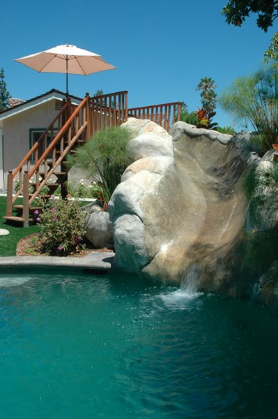 Faux Rock, Water Slide Water Features The Green Scene Chatsworth, CA