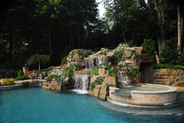 Lush, Waterfall Water Features Aqua FX by Island Land Care Mt Sinai, NY