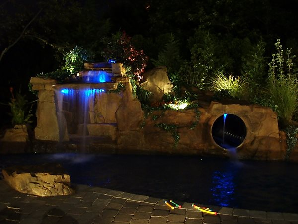 Waterfall, Cave Water Features Aqua FX by Island Land Care Mt Sinai, NY