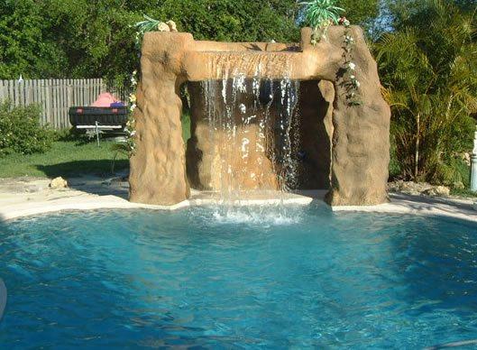Waterfall, Overhang, Cave Water Features G & G Custom Concrete / Armor Prep Coatings Finksburg, MD