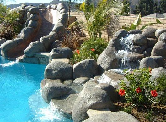 Waterfall, Pond, Slide, Pool Water Features G & G Custom Concrete / Armor Prep Coatings Finksburg, MD