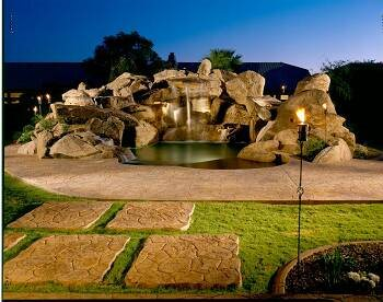 Waterfall, Spa Water Features Progressive Hardscapes Phoenix, AZ