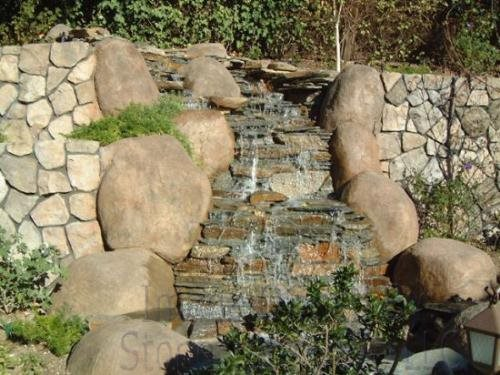 Waterfall, Stonework Water Features Surfacing Technology Brighton, CO