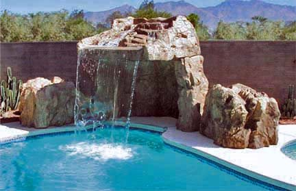 Waterfall, Tunell, Overhang Water Features Surfacing Technology Brighton, CO