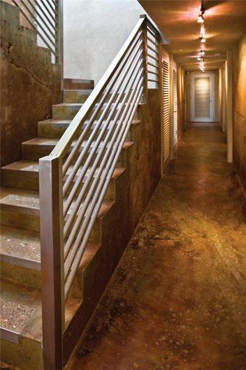 Brown, Hallway Brown Floors Tom Ralston Concrete Santa Cruz, CA
