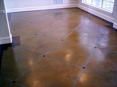 Brown Stain, Caramel Brown Floors Brilliant Concrete Design Fort Worth, TX