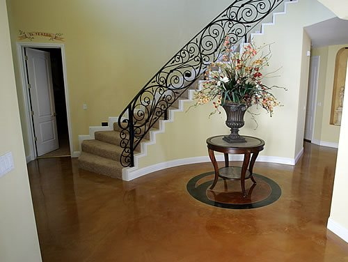 Concrete Floor Brown Floors Heritage Bomanite Fresno, CA