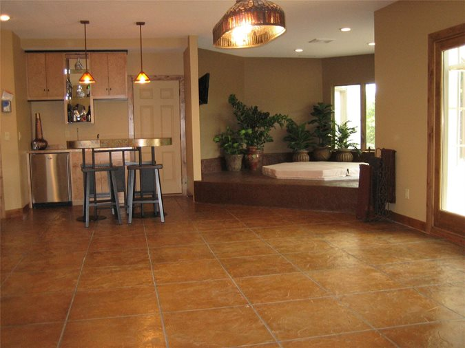 Faux Tile, Earthy Brown Floors Allstate Decorative Concrete Cokato, MN