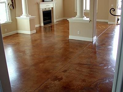Terra Cotta, Molted Brown Floors AFS Creative Finishes Sacramento, CA