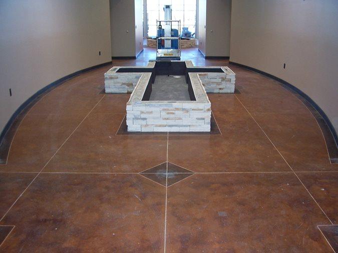 Cross Fountain Without Caps Solid Rock Concrete Services Gravette, AR