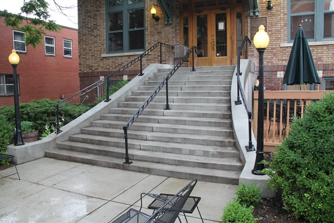Gray, Concrete, Stairs Commercial Floors Mattingly Concrete Indianapolis, IN