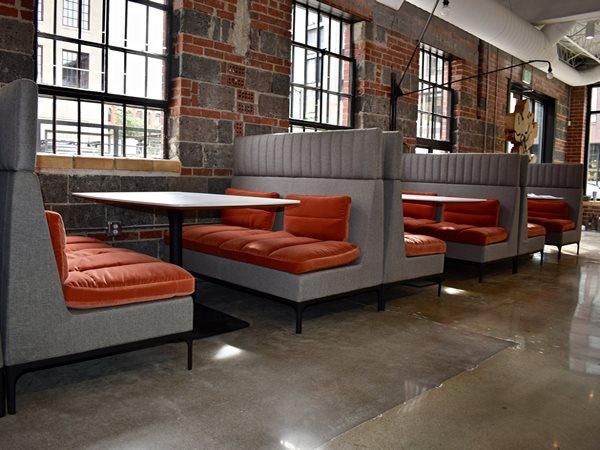 Polished Floor, Restaurant, Booths Commercial Floors The Art of Concrete LLC Denver, CO